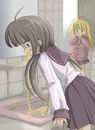 胃液と共にお腹の中身をぶちまけてる女の子たちww